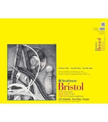 "Strathmore Vellum Bristol Paper Pad 19""X24""-100lb 20 Sheets"