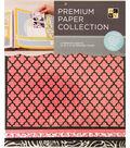 DCWV 12\u0022x12\u0022 set of 5 Premium Papers-Black/Pink Assortment