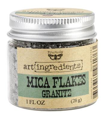 Art Ingredients Mica Flakes 1oz-Granite