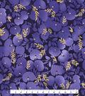 Kathy Davis® Cotton Fabric 44\u0027\u0027-Large Tonal Floral on Navy