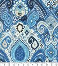 Waverly Sun N\u0027 Shade Outdoor Fabric 54\u0022-Boho Passage Lapis