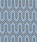 Home Decor 8\u0022x8\u0022 Fabric Swatch-Print Fabric Nautica Maze Work Azure