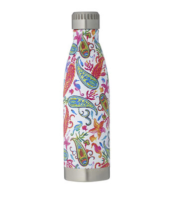 Summer 16oz. Beverage Hydration Container-Paisley
