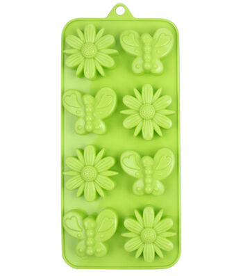 Easter 8-Cavity Silicone Candy Mold-Butterflies & Flowers