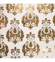 "Teresa Collins Studio Gold Foiled Gift Wrap 30""X30"" 2/Pkg-Damask, , hi-res"