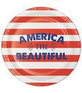 Americana Patriotic 8 Pack Paper Dinner Plate-America The Beautiful