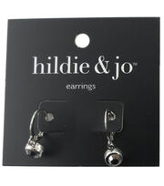 hildie & jo™ Silver Earrings-Gray Crystal, , hi-res