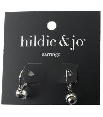 hildie & jo™ Silver Earrings-Gray Crystal
