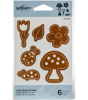 Spellbinders Shapeabilities Die D-Lites-Lady Bug Garden, , hi-res