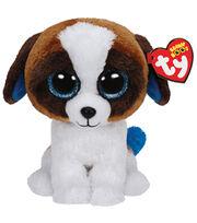 TY Beanie Boo Duke Brown White Dog, , hi-res