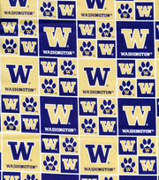 "University of Washington Huskies Cotton Fabric 43""-Block, , hi-res"