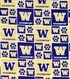 University of Washington Huskies Cotton Fabric 43\u0022-Block
