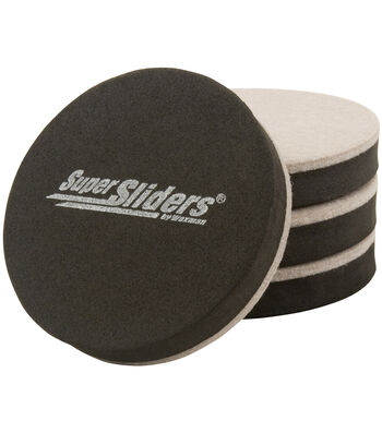 "Super Sliders 3.5"" 4 Count-Round Felt Bottom"