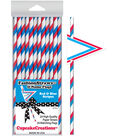 Cupcake Creations Paper Drinking Straws With Flags