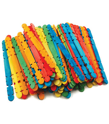 "Craft Skill Sticks Assorted Colors-4.5"" 80/Pkg"