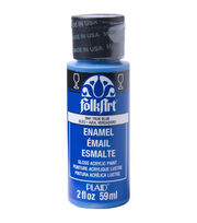 FolkArt Enamel Paint 2oz-True Blue, , hi-res