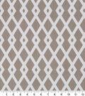 Robert Allen @ Home Print Fabric 55\u0022-Graphic Fret Flax