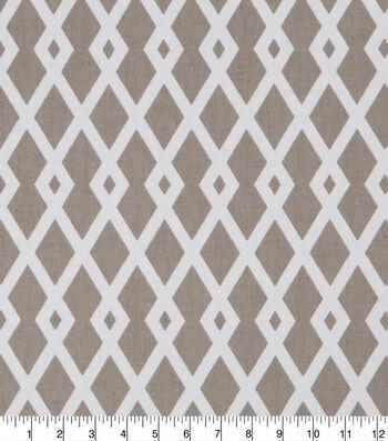"Robert Allen @ Home Print Fabric 55""-Graphic Fret Flax"