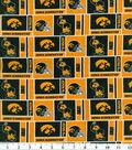 University of Iowa Hawkeyes Cotton Fabric 43\u0022-Herringbone