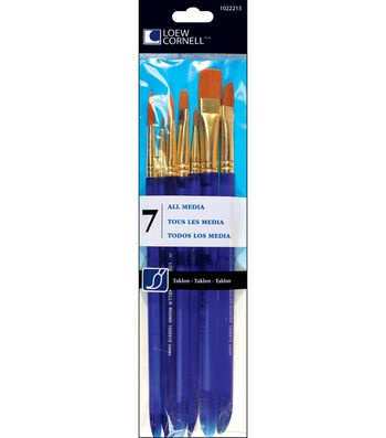 Taklon Craft Brush Set-7/Pk