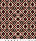 Snuggle Flannel Fabric 42\u0027\u0027-Red & Beige Aztec