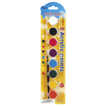 Acrylic Basic Colors Paint Pot Pack, 8-Pack