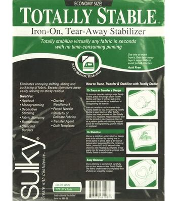 "Sulky Stable Iron-On Tear Away Stabilizer-20""W x 3yds"