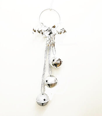 Maker's Holiday Christmas 3-piece 60 mm Jingle Bell Door Knocker-Silver