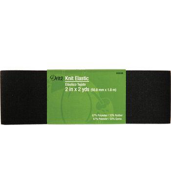 "Dritz 2"" x 2 Yds Knit Elastic Black"