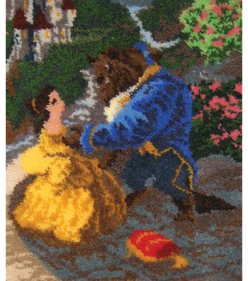 M C G Textiles Latch Hook Kit Beauty & The Beast Falling In Love