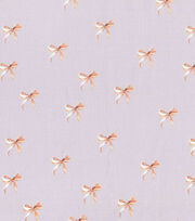 "Keepsake Calico™ Cotton Fabric 43""-Gold Bows On Gray, , hi-res"