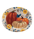 Fall Into Color 8 Pack Paper Oval Platters-Pumpkin