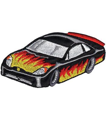 "Wrights Iron-On Appliques-Race Car 3-1/2""X1-3/4"" 1/Pkg"