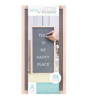 DCWV Home 10''x20'' Oak Gray Letter Board with 1'' White Letters, , hi-res