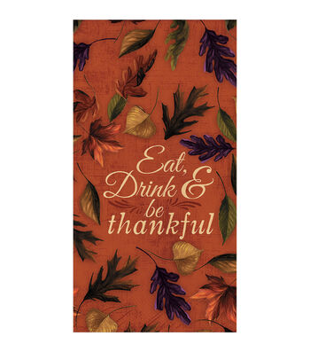 Fall Into Color 16 Pack Paper Napkins-Leaves