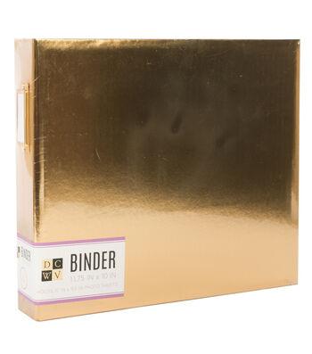 """DCWV Insta Photo Fun 8""""x8"""" Binder: Gold Foil"""