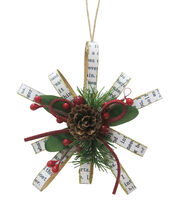 Maker's Holiday Handmade Holiday Snowflake Ornament-Newspaper Print, , hi-res