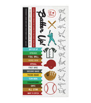Kaisercraft Game On! Baseball Cardstock Stickers, , hi-res