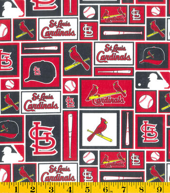 St. Louis Cardinals Cotton Fabric 58''-Patch