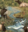 Anti-Pill Fleece Fabric 58\u0022-Painted Wild Moose