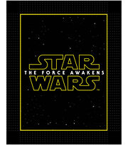 "Star Wars™ VII No Sew Fleece Throw 48""-The Force Awakens Logo, , hi-res"