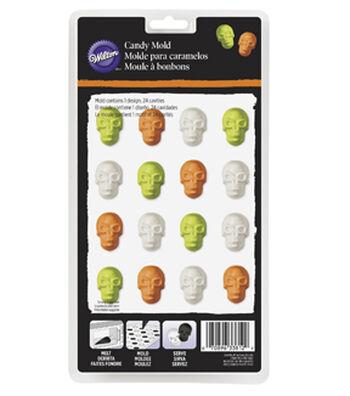 Wilton 24 Cavity Mini Skulls Candy Mold