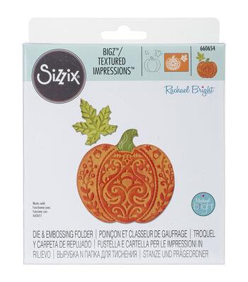 Sizzix® Bigz Die With Bonus Textured Impressions-Harvest Pumpkin