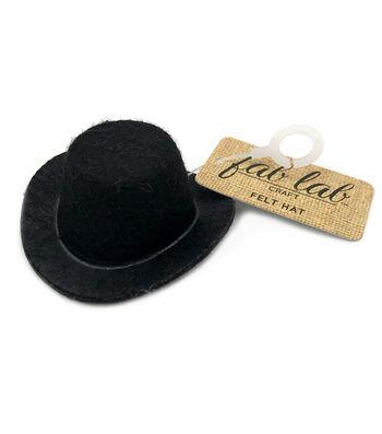 2in Blk Felt Top Hat
