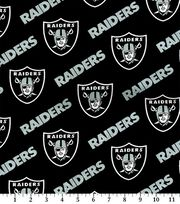 Oakland Raiders Cotton Fabric 58''-Black, , hi-res