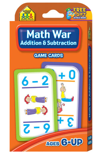 Game Cards-Math War: Addition & Subtraction