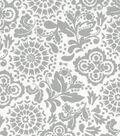 Quilter\u0027s Showcase™ Fabric 43\u0027\u0027-Gray Floral Medallion