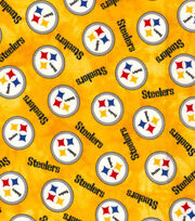 "Pittsburgh Steelers Flannel Fabric 42""-Tie Dye, , hi-res"