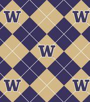"University of Washington Huskies Fleece Fabric 58""-Argyle, , hi-res"