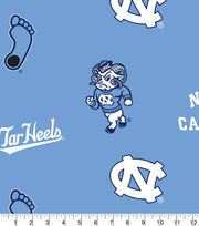 "University of North Carolina Tarheels Fleece Fabric 58""-Allover Blue, , hi-res"